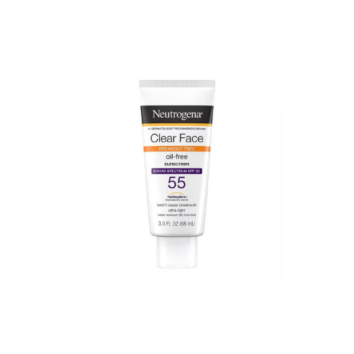Neutrogena Clear Face Oil-Free Liquid Sunscreen with SPF 55+ - Best Sunscreen Philippines